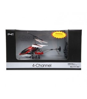 4 chanel, Metal frame RC Heli - Red-777-767